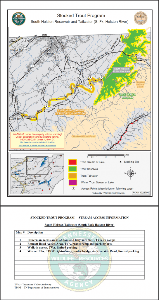 south holston river map
