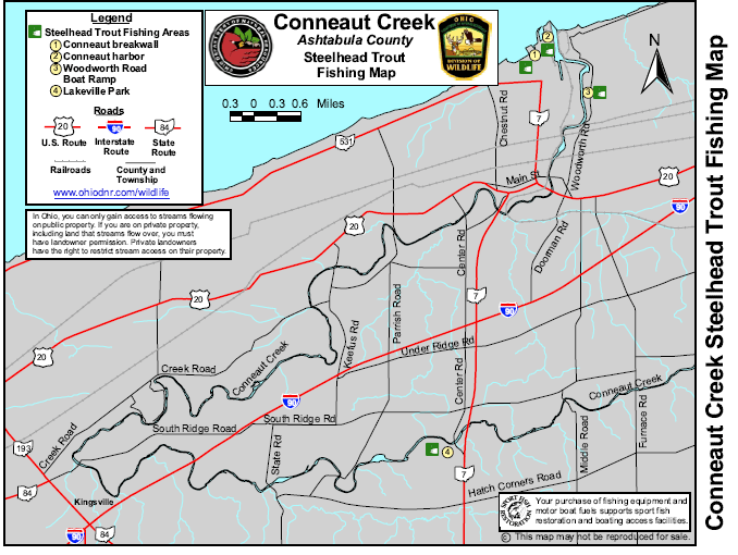 Conneaut Creek Steelhead Fishing Map