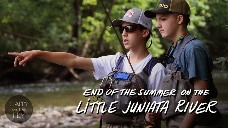 fly fishing the Little Juniata River in PA