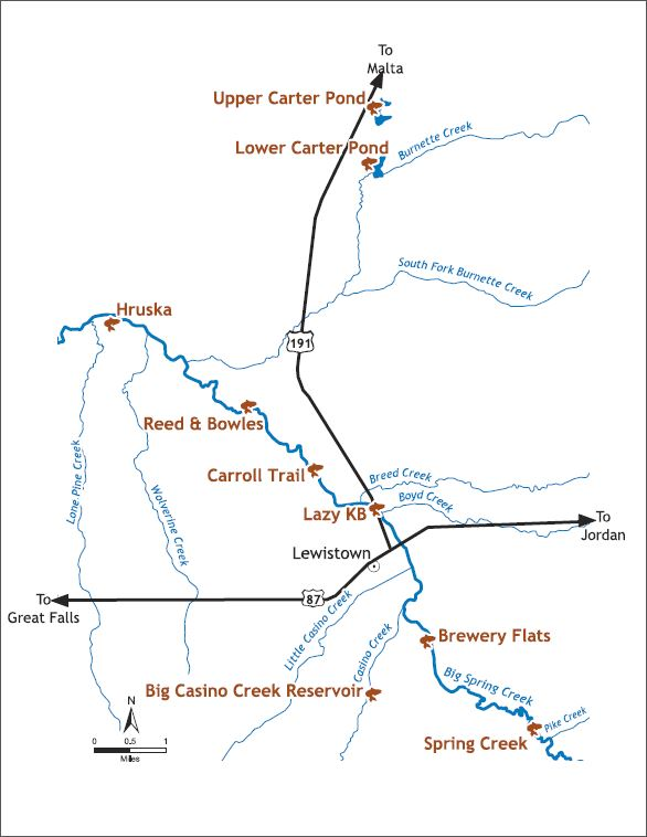 Montana Big Spring Creek map