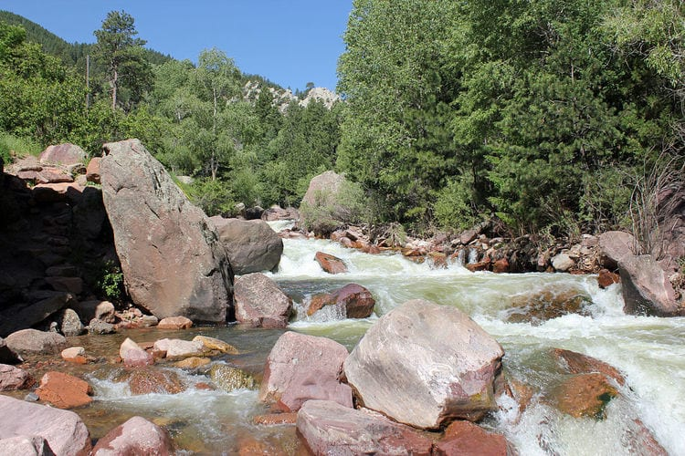 south boulder creek in eldorado canyson state park in colorado
