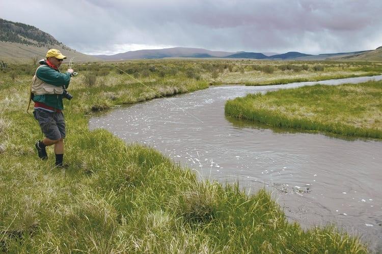 fly fishing Cochetopa Creek in Colorado
