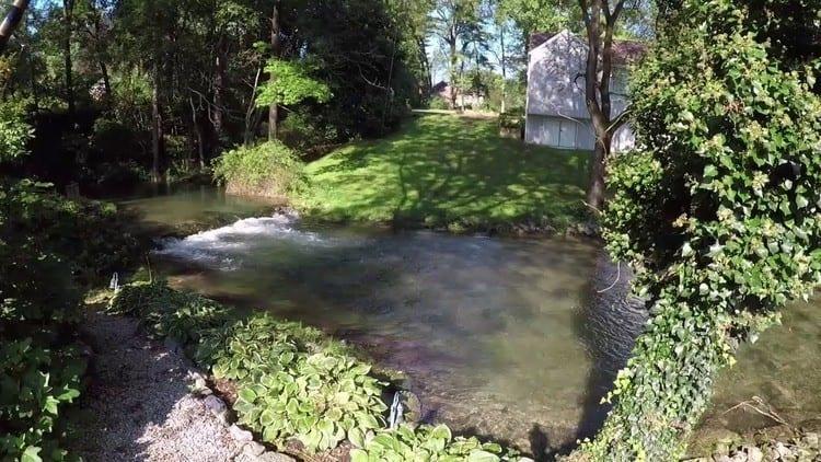 Pool on Falling Springs Branch Creek