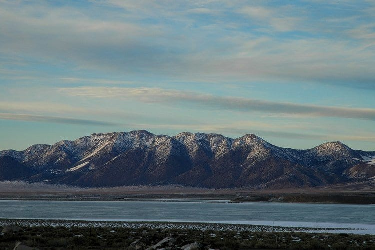 Crowley Lake in Calfornia