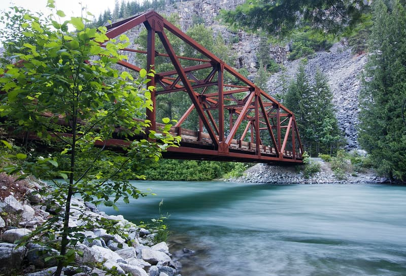 Harlequin Bridge over the Stehekin River